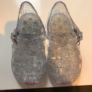 Other - Great condition clear sparkle jellys